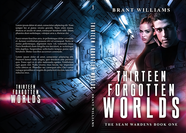 """Cover: """"Thirteen Forgotten Worlds"""" by Brant Williams"""